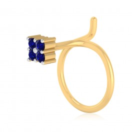 The Classy Blue Sapphire Nose Pin