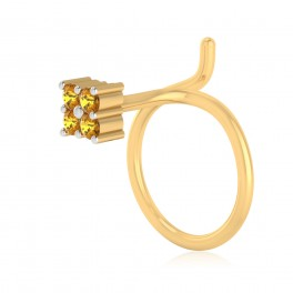 The Classy Yellow Sapphire Nose Pin