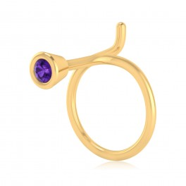 The Allan Amethyst Nose Pin