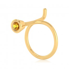 The Allan Yellow Sapphire Nose Pin