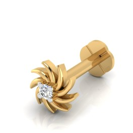 The Radiant Diamond Solitaire Nose Screw