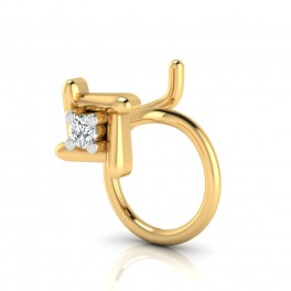 The Beauty Solitaire Diamond Nose Pin