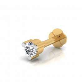 The Kitty Diamond Solitaire Nose Screw
