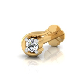 The Jamaika Silver Solitaire Nose Screw