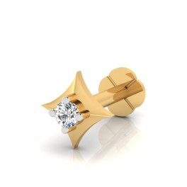 The Beauty Silver Solitaire Nose Screw