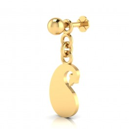 The HapScrewess Gold Nose Screw