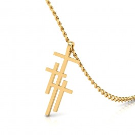 The Prince of Peace Cross Gold Pendant