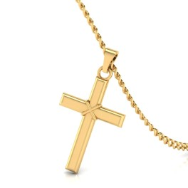 The Son of Man Cross Gold Pendant