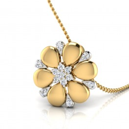 The Floral Flower Diamond Pendant