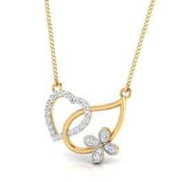 The Butter Heart Diamond Pendant