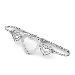 The Hearty Silver Chain Bracelet