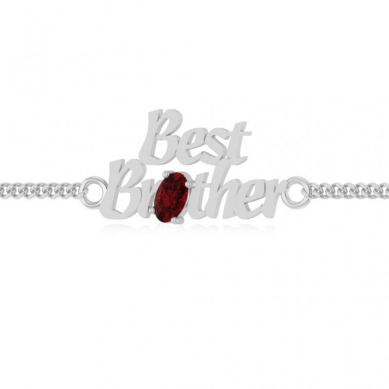 The Aarna Brother Ruby Bracelet