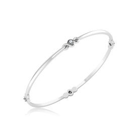 The Doris Silver Bangle