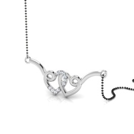 The Anika Curl Silver Mangalsutra