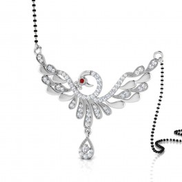 The Alyana Curly Silver Mangalsutra