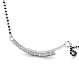 The Harshini Silver Mangalsutra