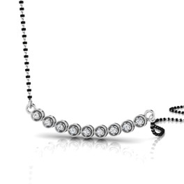 The Impeccable Silver Mangalsutra
