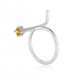 The Serenity Yellow Sapphire Nose Pin