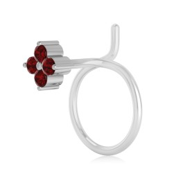 The Ziva Ruby Nose Pin