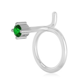 The Idoltary Emerald Nose Pin