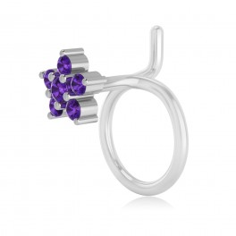 The Flora Amethyst Nose Pin