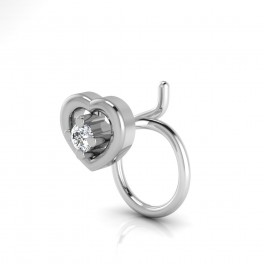 The Radiant Silver Nose Pin