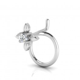 The Classy Silver Nose Pin