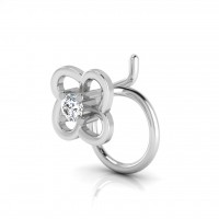 The Radison Solitaire Diamond Nose Pin