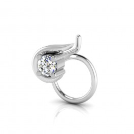The Devil Solitaire Diamond Nose Pin