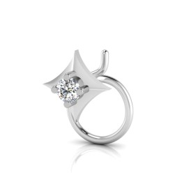 The Eleana Solitaire Diamond Nose Pin