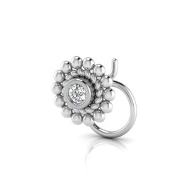 The Vedhaye Solitaire Diamond Nose Pin