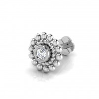 The Shannay Diamond Solitaire Nose Screw