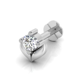 The Engagement Diamond Solitaire Nose Screw