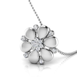 The Floral Flower Silver Pendant