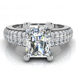 The Devora Radiant Solitaire Ring
