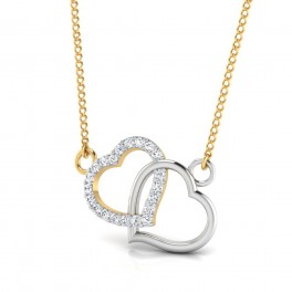 The Double Heart Diamond Pendant