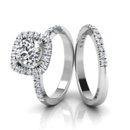 The Faimi Solitaire Silver Ring Set