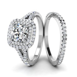The Zarco Solitaire Silver Ring Set