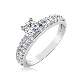 The Tweetup Solitaire Ring