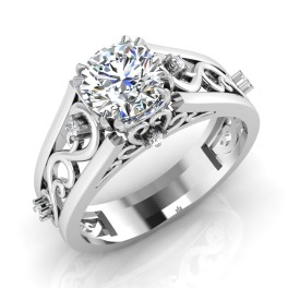 The Striking Solitaire Ring