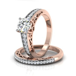 The Vegas Solitaire Bridal Ring Set