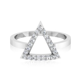 The Triangle Diamond Ring