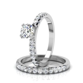 The Aleysia Solitaire Bridal Ring Set