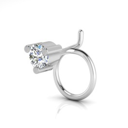 The Anamika Solitaire Diamond Nose Pin