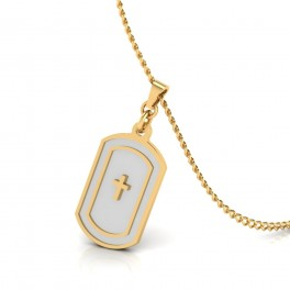 The Designer Cross  Gold Pendant