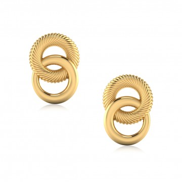 The Annual Gold Stud Earrings