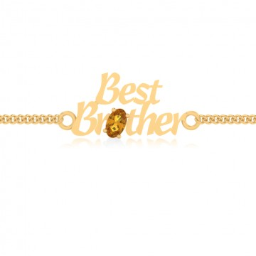 The Aarna Brother Yellow Sapphire Bracelet