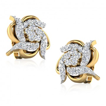 The Minia Diamond Stud Earrings