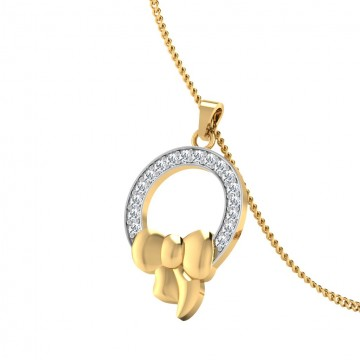 The Bow Silver Pendant