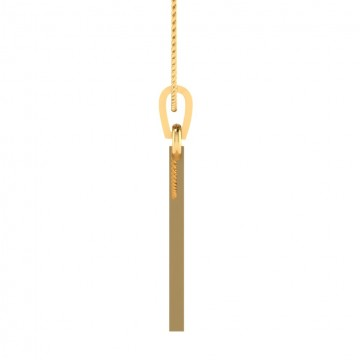 The Triangle for Mens Gift Gold Pendant